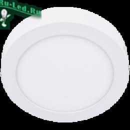 ультратонкие светильники накладные - это возможность существенно сэкономить на оплате коммунальных услуг Ecola LED downlight накладной Круглый даунлайт с драйвером 6W 220V 4200K 120x32