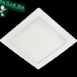 Точечный квадратный светильник светодиодный органично впишется в любую обстановку Ecola LED downlight встраив. Квадратный даунлайт с драйвером 12W 220V 4200K 170x170x20