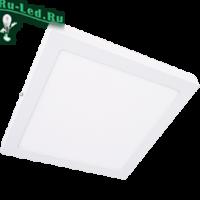 Ecola LED downlight накладной Квадратный даунлайт с драйвером 24W 220V 4200K 300x300x32
