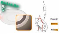 Ecola LED downlight встраив. Круглый даунлайт с драйвером с подсветкой  6(3+3)W 220V 4200K / 4200K 105x20