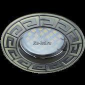 Ecola MR16 DL110А GU5.3 Светильник встр. литой Антик Черненая Бронза 24x86 (кd74)