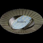 Ecola MR16 DL119 GU5.3 Светильник встр. литой поворотный Рифленые лучи Черненая Бронза 25x91
