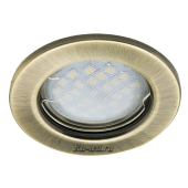 Ecola Light MR16 DL90 GU5.3 Светильник встр. плоский Черненая Бронза 30x80 (кd74)