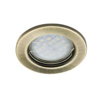 Ecola Light MR16 DL90 GU5.3 Светильник встр. плоский Черненая Бронза 30x80 - 2pack (кd74)