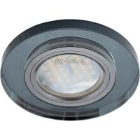 Ecola MR16 DL1650 GU5.3 Glass Стекло Круг Черный / Черный хром 25x95 (кd74)