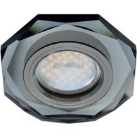 Ecola MR16 DL1652 GU5.3 Glass Стекло 8-угольник с прямыми гранями Черный / Черный хром 25x90 (кd74)