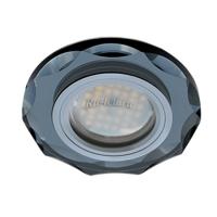 Ecola MR16 DL1653 GU5.3 Glass Стекло Круг с вогнутыми гранями Черный / Черный хром 25x90 (кd74)