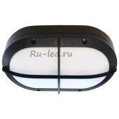 Ecola GX53 LED B4148S светильник накладной IP65 матовый Овал с решеткой алюмин. 2*GX53 Черный 215x135x65