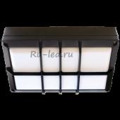 Ecola GX53 LED B4158S светильник накладной IP65 матовый Прямоугольник с решеткой алюмин. 2*GX53 Черный 215x135x65