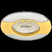 Ecola MR16 HL029 GU5.3 Светильник встр. литой Волна (скрытый крепеж лампы) Золото/Хром 22x82 (кd74)