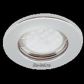 Ecola Light MR16 DL90 GU5.3 Светильник встр. плоский Хром 30x80 (кd74)