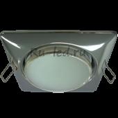 Ecola GX53 H4  Square светильник квадратный без рефл. Хром 107x41 (к+)