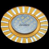 Ecola MR16 DL3183 GU5.3 Светильник встр. литой (скрытый крепеж лампы) матовое Золото/Алюм Полоски по кругу 23x78 (кd74)