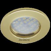 Ecola Light MR16 DL90 GU5.3 Светильник встр. плоский Золото 30x80 (кd74)