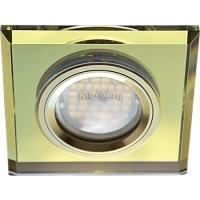Ecola MR16 DL1651 GU5.3 Glass Стекло Квадрат скошенный край Золото / Золото 25x90x90 (кd74)