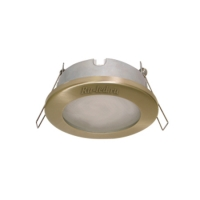 Ecola MR16 DL80 GU5.3 светильник встр. защищенный IP65 золото 32x93