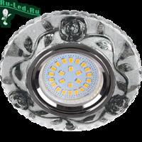 """Ecola MR16 LD7071 GU5.3 Светильник встр. искристый с подсветкой """"Розы"""" Прозрачный и Черный / Хром 25x95"""