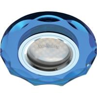 Ecola MR16 DL1653 GU5.3 Glass Стекло Круг с вогнутыми гранями Голубой / Хром 25x90 (кd74)