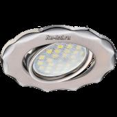 Ecola MR16 DH07 GU5.3 Светильник встр. поворотный Звезда (скрытый крепеж лампы) Сатин-Хром/Хром 25x88 (кd74)