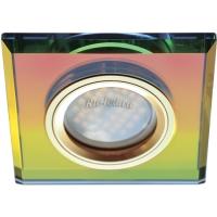 Ecola MR16 DL1651 GU5.3 Glass Стекло Квадрат скошенный край Мультиколор / Золото 25x90x90 (кd74)