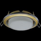 Ecola GX53 H4 9022 светильник встраив. без рефл. 2 цв. хром-золото-хром 38x106 (к+)