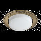 """Ecola GX53 H4 9011 светильник встраив. без рефл. """"6 полос"""" Черненая бронза 43x115 (к+)"""