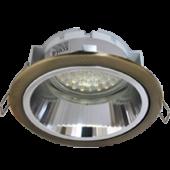 Ecola GX53 H2R Downlight светильник встраив. с рефлектором черненая бронза (antique brass) 58x125