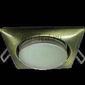 Ecola GX53 H4  Square светильник квадратный без рефл. Черненая бронза 107x41 (к+)