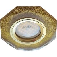 Ecola MR16 DL1652 GU5.3 Glass Стекло 8-угольник с прямыми гранями Золотой блеск / Золото 25x90 (кd74)