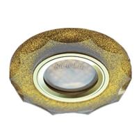 Ecola MR16 DL1653 GU5.3 Glass Стекло Круг с вогнутыми гранями Золотой блеск / Золото 25x90 (кd74)