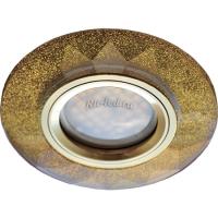 Ecola MR16 DL1654 GU5.3 Glass Стекло Круг граненый Золотой блеск / Золото 25x90 (кd74)