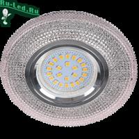 """Ecola MR16 LD7069 GU5.3 Светильник встр. искристый с подсветкой """"Модерн"""" Светло-розовый / Хром 25x95"""