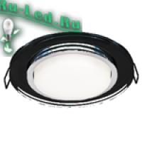 Ecola GX53 H4 5310 Glass Стекло Круг  черный хром - черный 38x126 (к+)