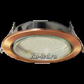 Ecola GX70-H5 светильник встраив. без рефл. Черненая медь 53x151 (кd135)