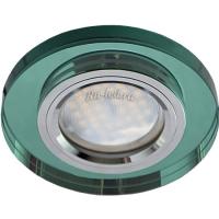 Ecola MR16 DL1650 GU5.3 Glass Стекло Круг Изумруд / Хром 25x95 (кd74)