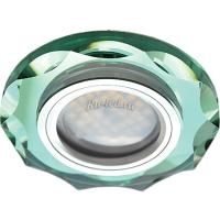 Ecola MR16 DL1653 GU5.3 Glass Стекло Круг с вогнутыми гранями Изумруд / Хром 25x90 (кd74)