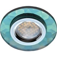 Ecola MR16 DL1654 GU5.3 Glass Стекло Круг граненый Изумруд / Хром 25x90 (кd74)
