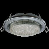 Ecola GX53 H4 9022 светильник встраив. без рефл. 2 цв. хром-серебро-хром 38х106 (к+)