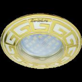 Ecola MR16 DL110А GU5.3 Светильник встр. литой Антик Хром/Сатин-Золото 24x86 (кd74)