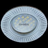 Ecola MR16 DL3182 GU5.3 Светильник встр. литой (скрытый крепеж лампы) матовый Хром/Алюм Рифленые Реснички по кругу 23x78 (кd74)