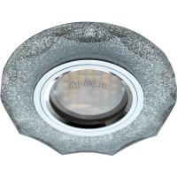 Ecola MR16 DL1653 GU5.3 Glass Стекло Круг с вогнутыми гранями Серебряный блеск / Хром 25x90 (кd74)