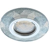 Ecola MR16 DL1654 GU5.3 Glass Стекло Круг граненый Серебряный блеск / Хром 25x90 (кd74)
