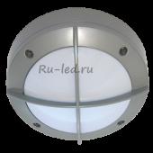 Ecola GX53 LED B4143S светильник накладной IP65 матовый Круг с решеткой алюмин. 1*GX53 Серый 145x145x65