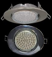 Ecola GX53 FT3238 светильник встр. без рефл. Эллипс сатин-хром 41x126x106 (к+)