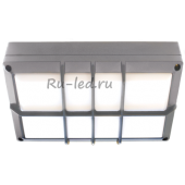Ecola GX53 LED B4158S светильник накладной IP65 матовый Прямоугольник с решеткой алюмин. 2*GX53 Серый 215x135x65