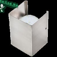 Ecola GX53-N52 светильник настенный бра прямоугольный сатин-хром 2* GX53 100х140х90 (1 из цв. уп. по 2)