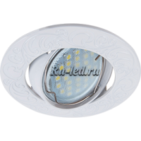 Ecola MR16 DL114 GU5.3 Светильник встр. литой поворотный Лианы Белый 25x90