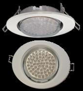 Ecola GX53 FT3238 светильник встр. без рефл. Эллипс белый 41x126x106 (к+)