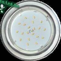 Ecola GX53 H4 DL3901 светильник встраив. без рефл.  Круг под стеклом Белый блеск / хром 106х38 (к+)