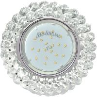 Ecola GX53 H4 5341 Glass Круглый с хрусталиками Прозрачный /Хром 56x120 (к+)
